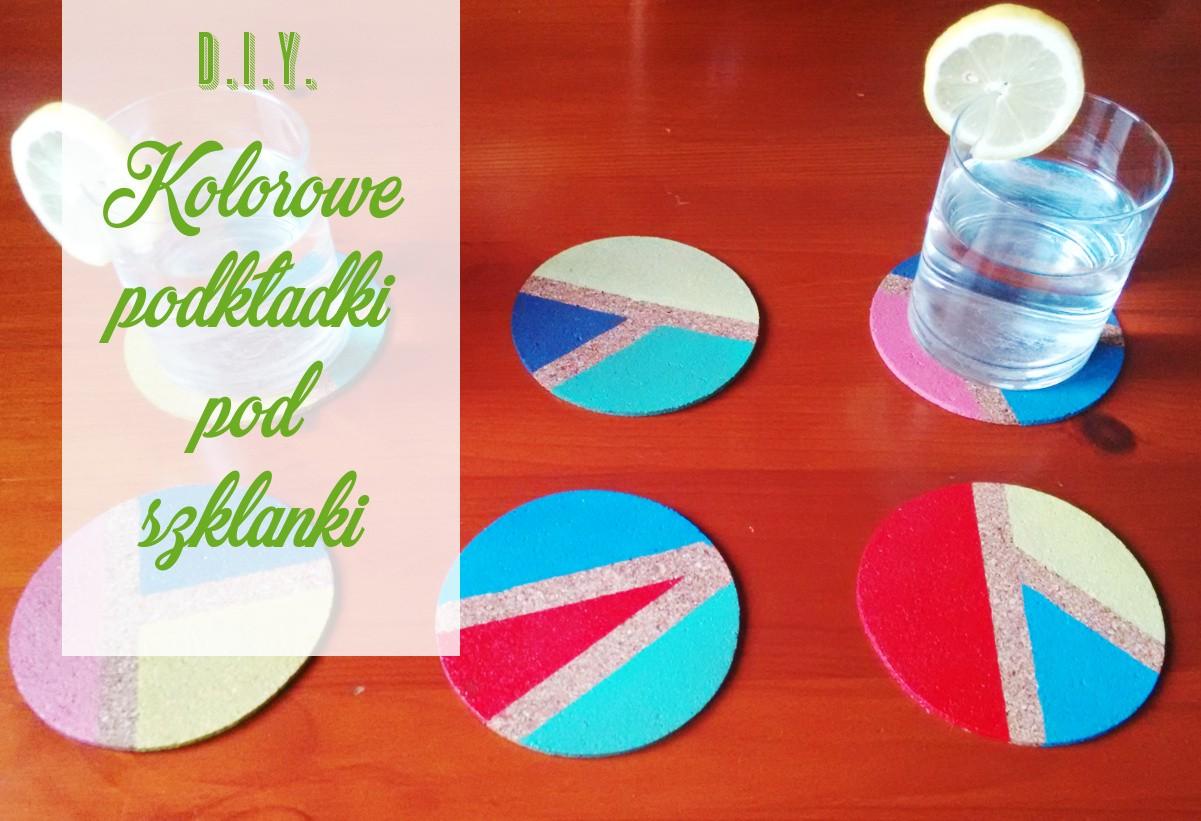 DIY Kolorowe podkładki pod szklanki