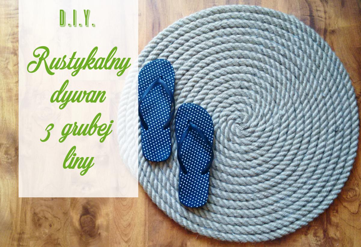 DIY Rustykalny dywan z liny