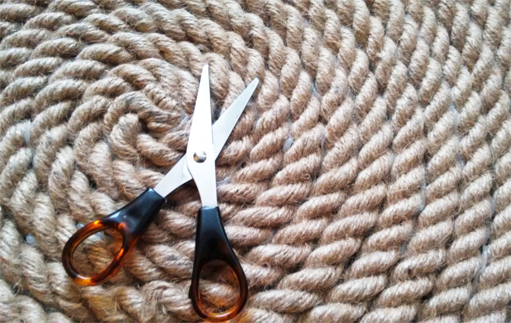 DIY Rustykalny dywan z liny, sznura