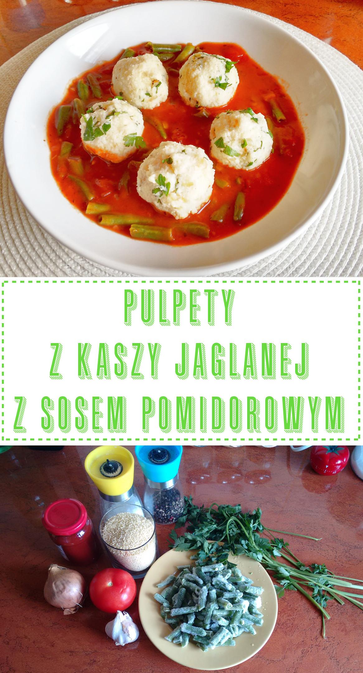 Przepis na pulpety z kaszy jaglanej z sosem pomidorowym
