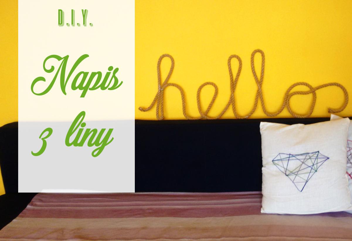 DIY Napis z liny