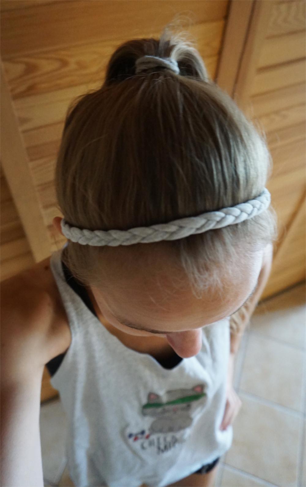 DIY Treningowa opaska do włosów