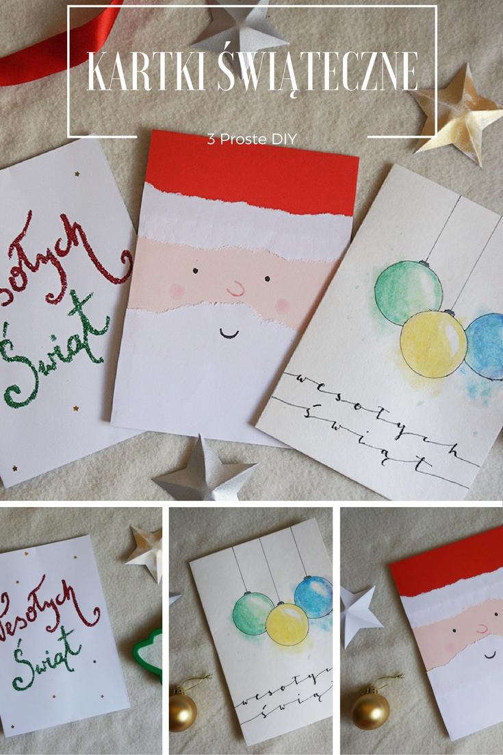DIY 3 Proste kartki świąteczne // Christmas cards