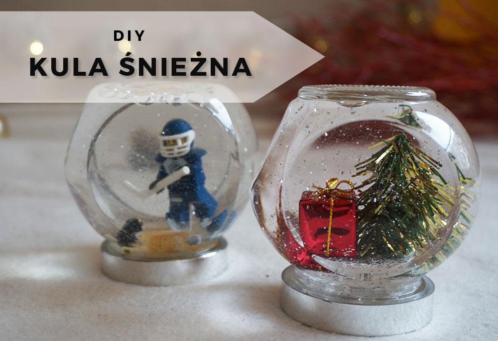 DIY Świąteczna kula śnieżna