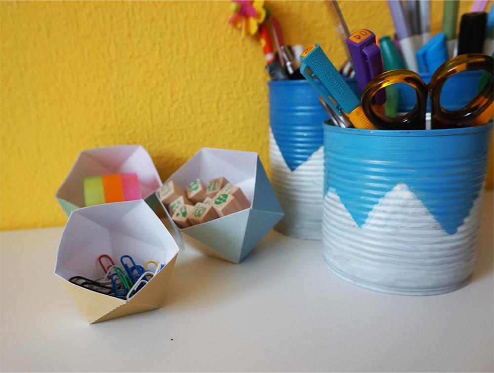 DIY Geometryczne pojemniki na biurko do druku i samodzielnego poskładania