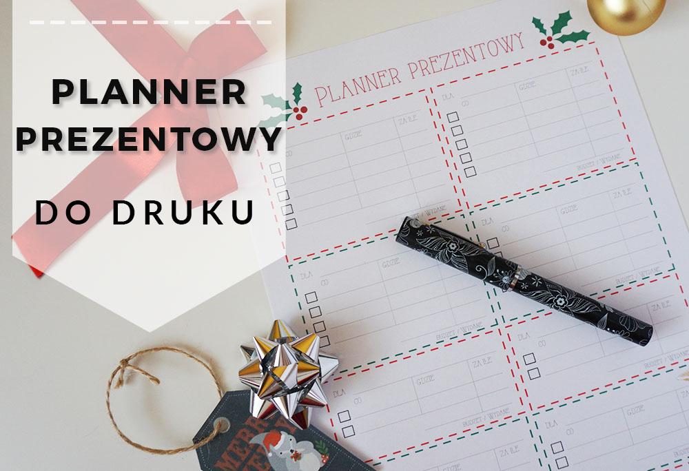 Planner prezentowy do druku