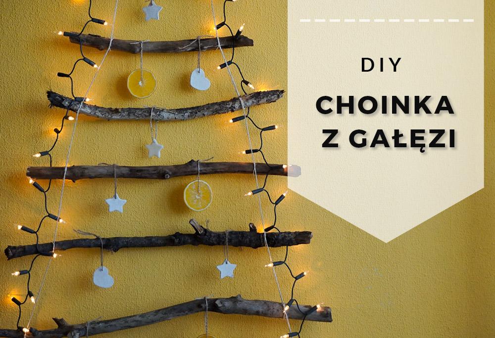 DIY Choinka z gałęzi