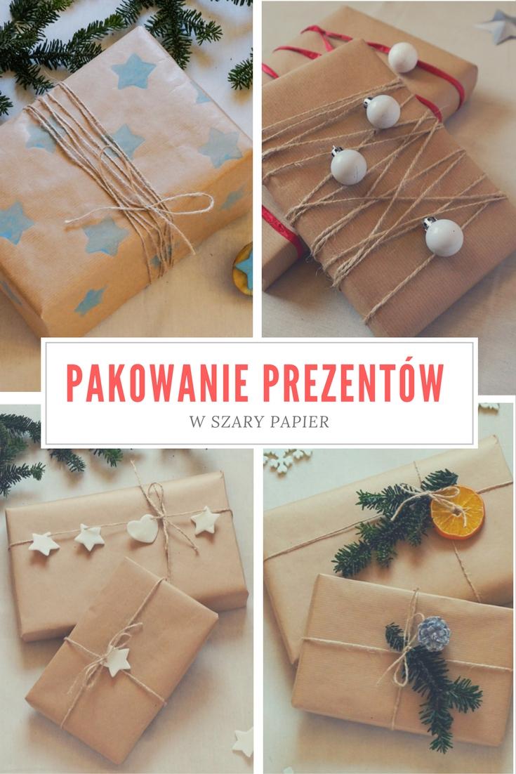 Pakowanie prezentów w szary papier - pomysły i inspiracje, bileciki i etykiety do prezentów Gift wrapping, gift tags