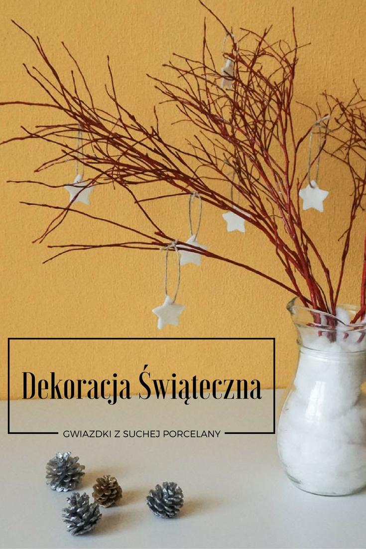 Prosty przepis: sucha porcelana, ozdoby, świąteczna dekoracja z gałęzi / Cold porcelain DIY
