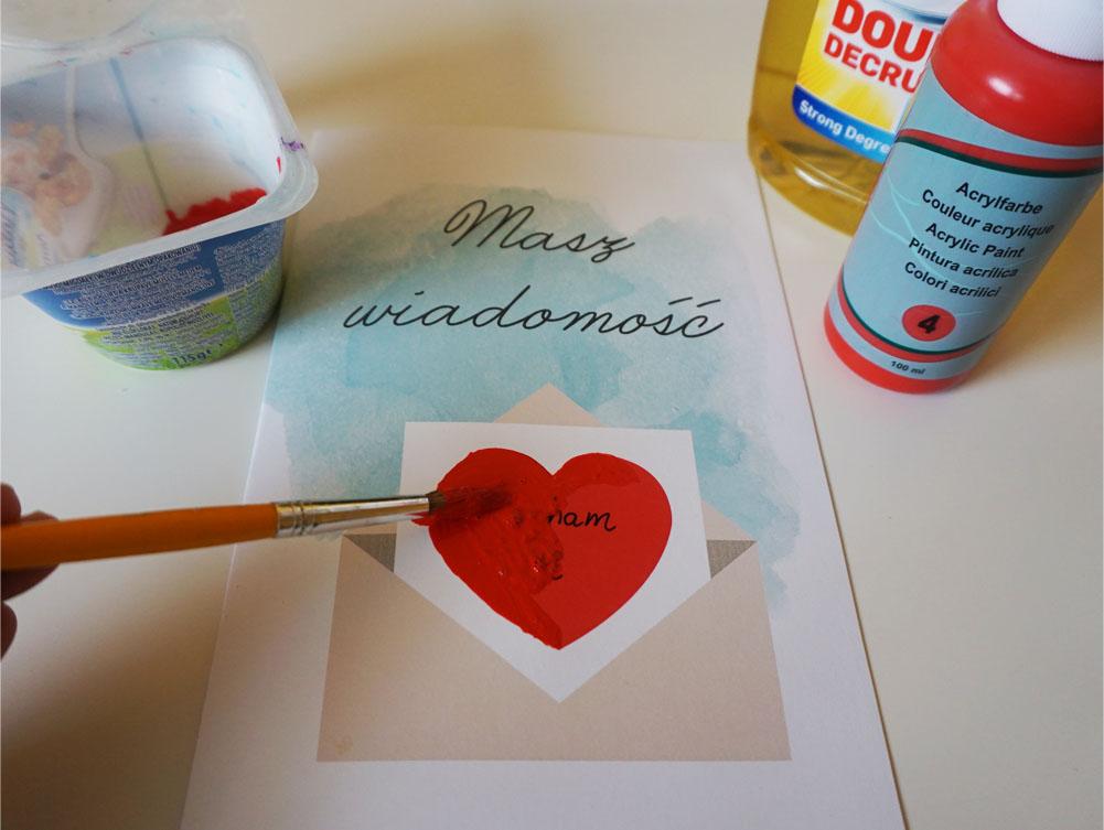 Zrób to sam kartki na Walentynki do druku