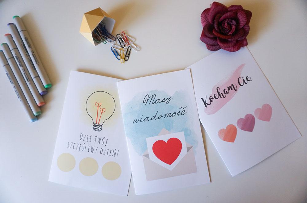 DIY Walentynkowe kartki do druku wraz ze zdrapką