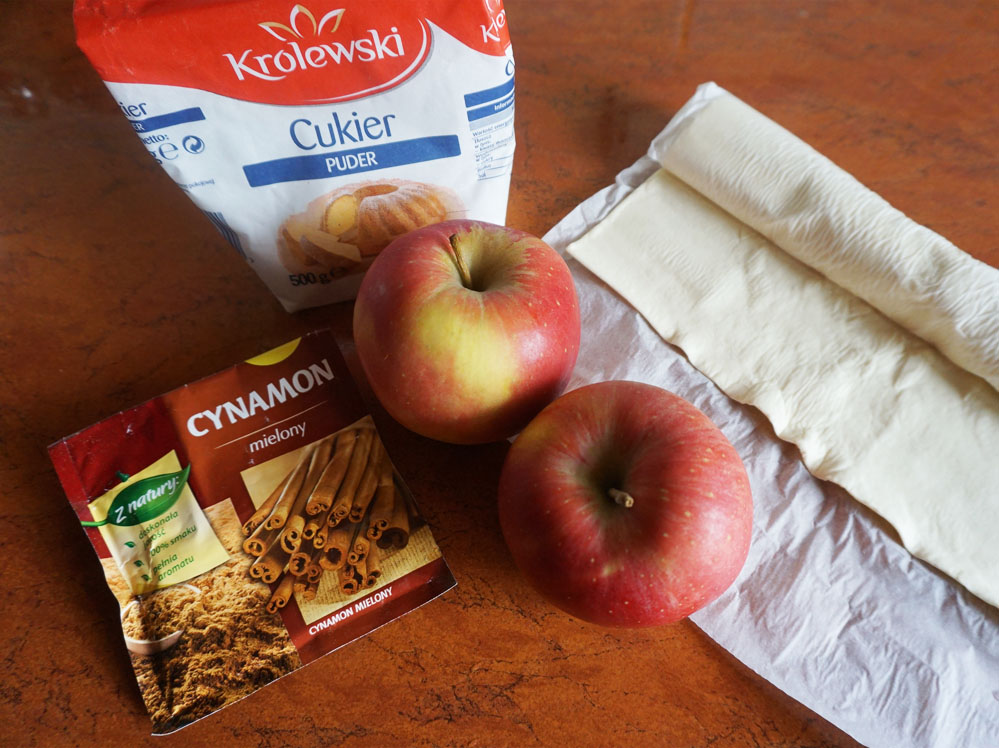 Romantyczny deser róże z jabłek