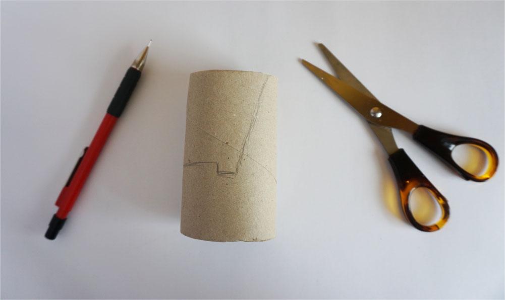DIY Podstawka pod telefon smartfon z rolki papieru
