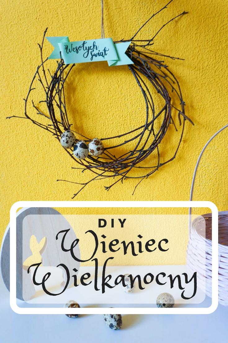 DIY Prosty wieniec wielkanocny - świąteczny wystrój wnętrz // DIY SImple Easter Wreath