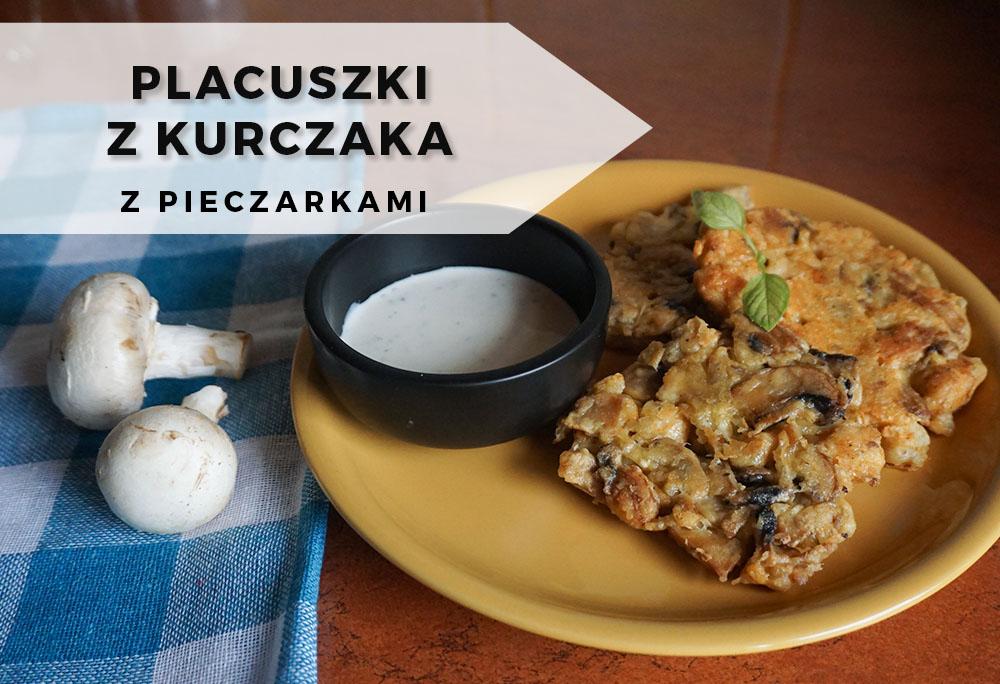 Przepis na placuszki z kurczaka i pieczarek