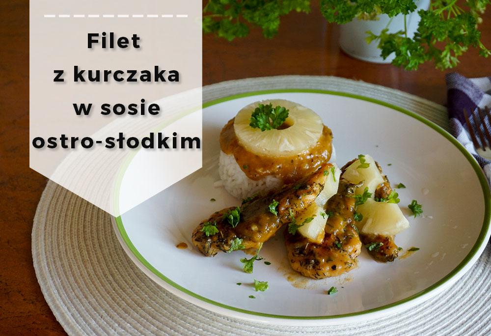 Filet z kurczaka w sosie ostro-słodkim