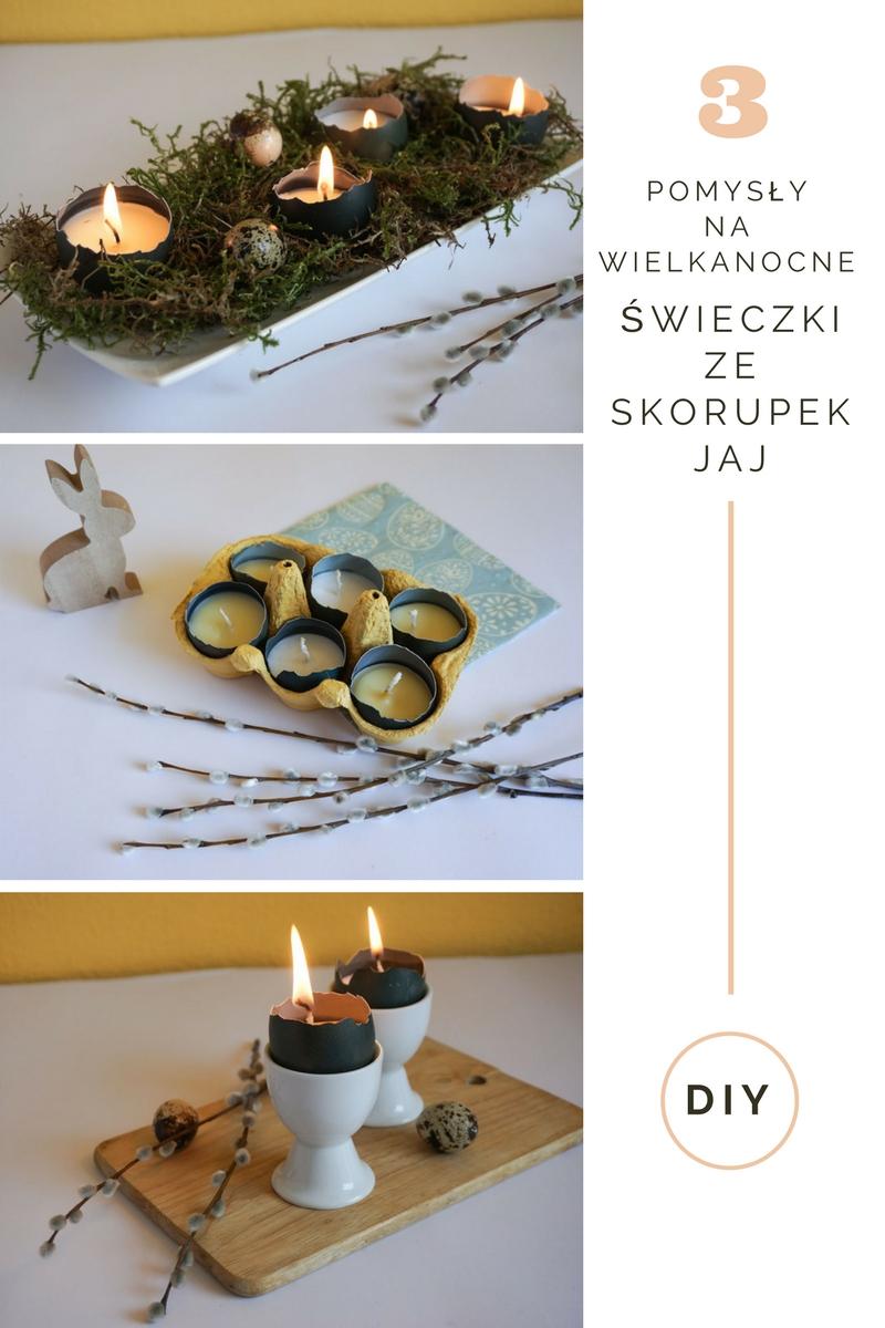 DIY Wielkanocne świeczki ze skorupek jaj - 3 pomysły // DIY Easter eggshells candles