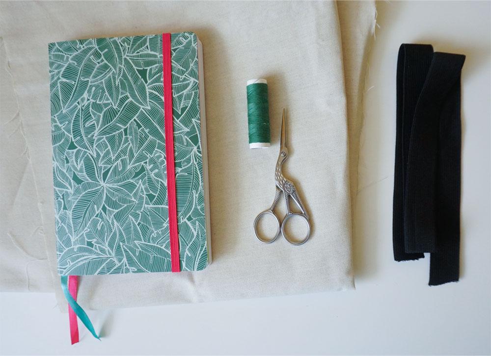 DIY Piórnik z gumką zakładany na notes, kalendarz, bullet journal