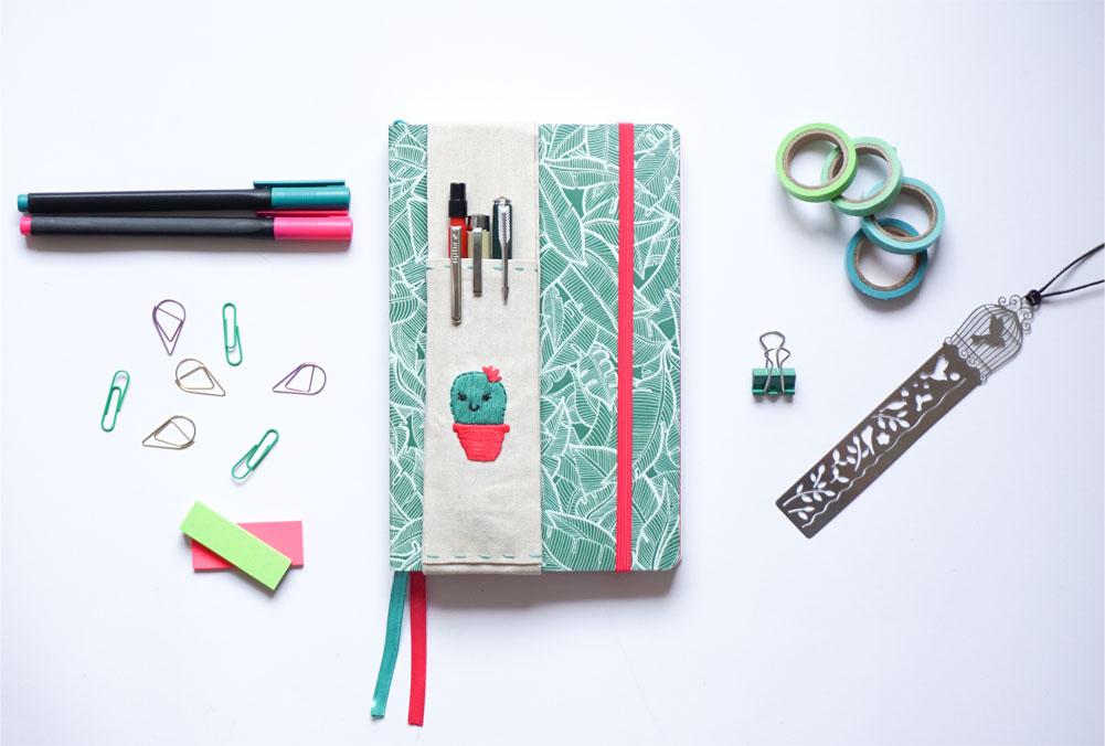 DIY Piórnik zakładany na notes, kalendarz, bullet journal