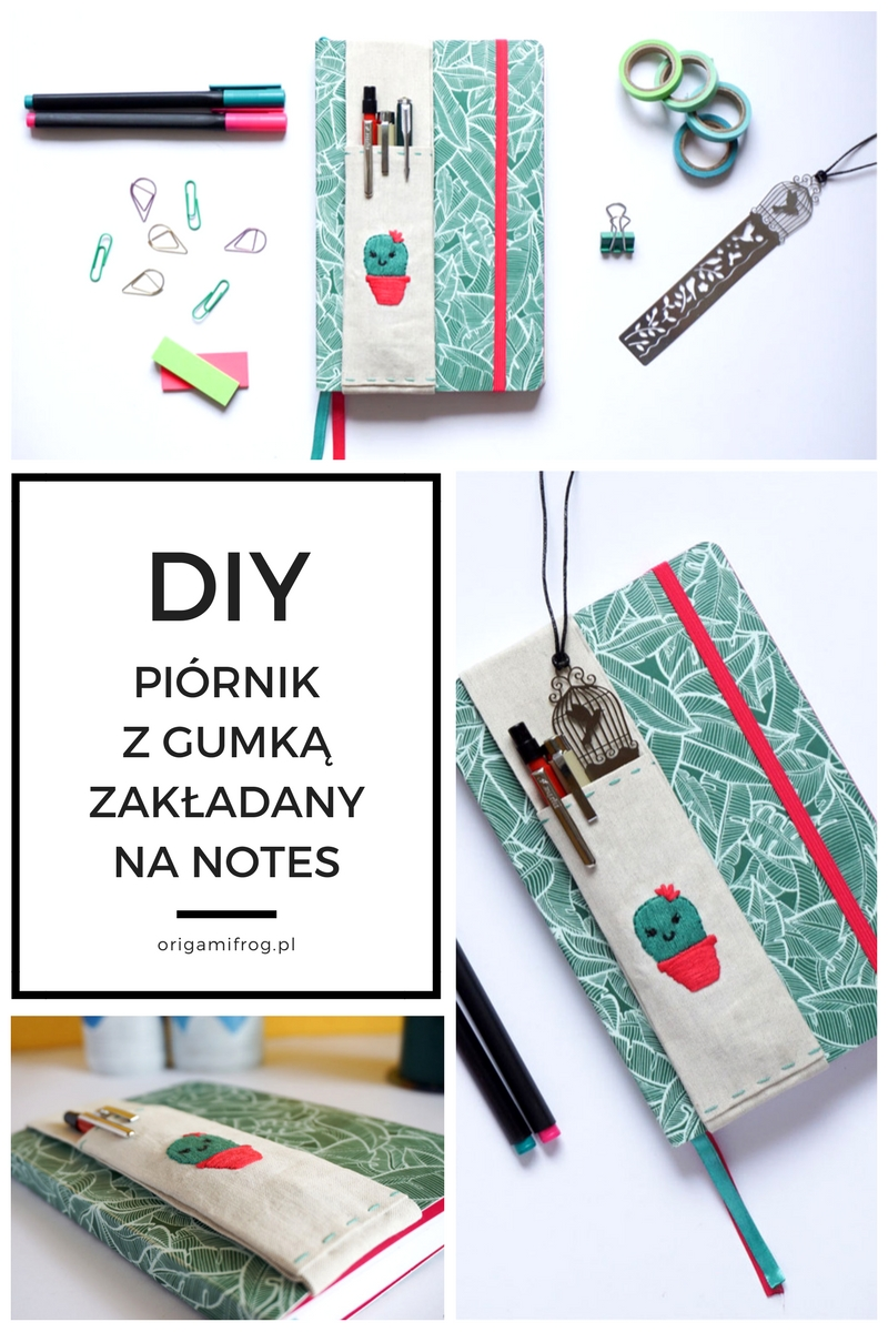 Zrób to sam Piórnik z gumką zakładany na notes, kalendarz, bullet journal // DIY Journal Pen holder with elastic band