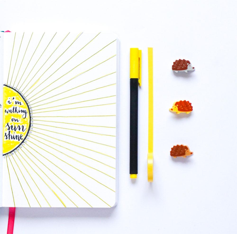 Listy i kolekcje w moim bullet journal - wspomnienia, wdzięczność