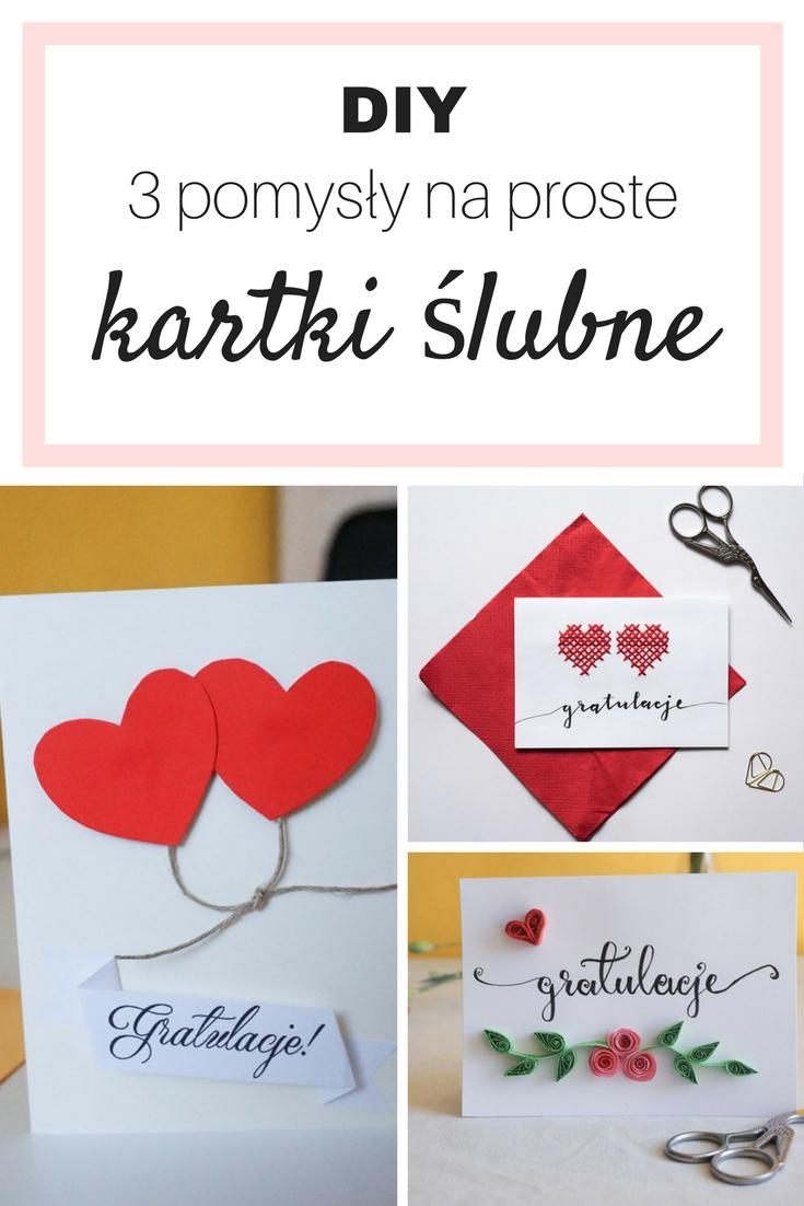 DIY 3 pomysły na kartki ślubne wykonane własnoręcznie // Handmade wedding cards