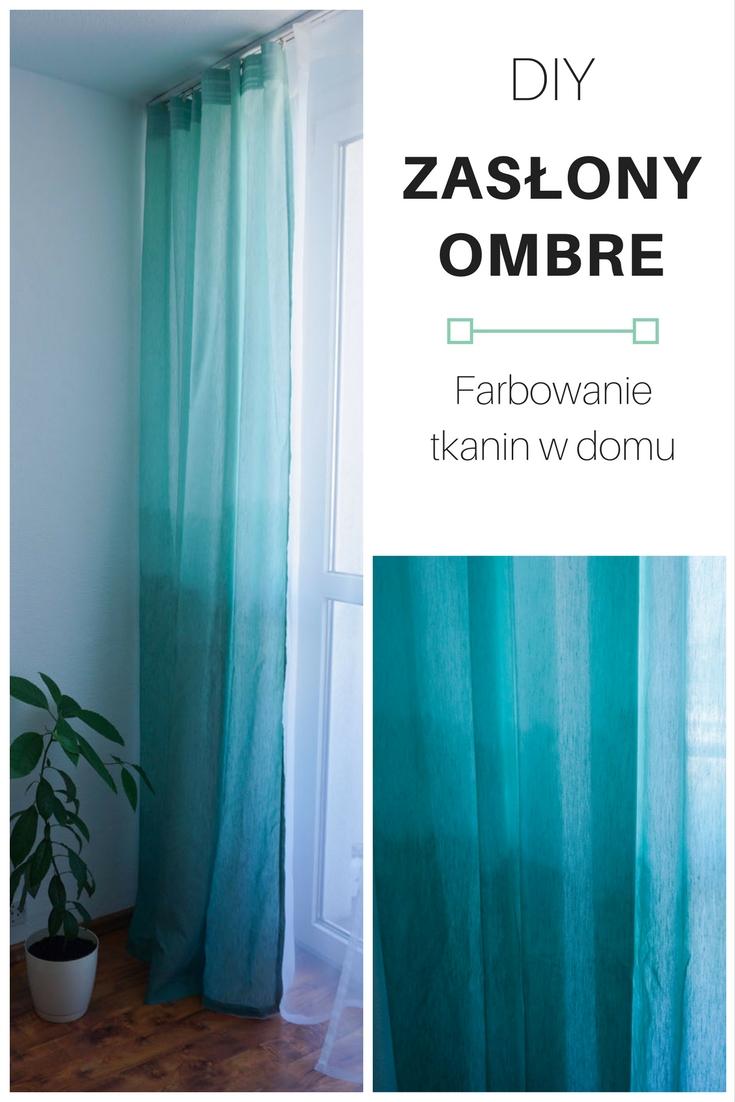Zrób to sam Zasłony ombre - farbowanie tkanin // DIY ombre curtains