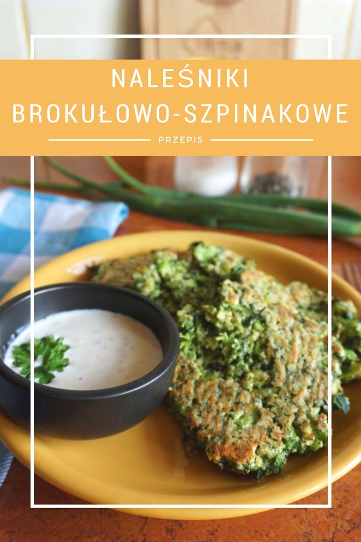 Przepis: Pieczone naleśniki brokułowo-szpinakowe
