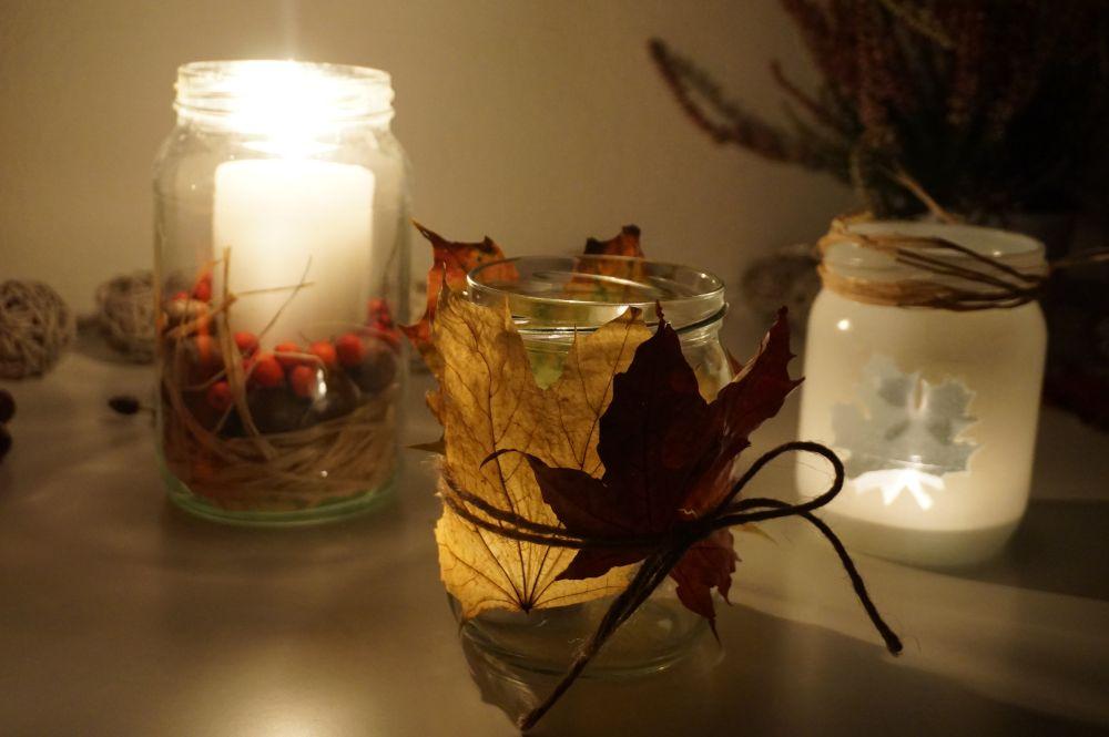 DIY Proste jesienne świeczniki