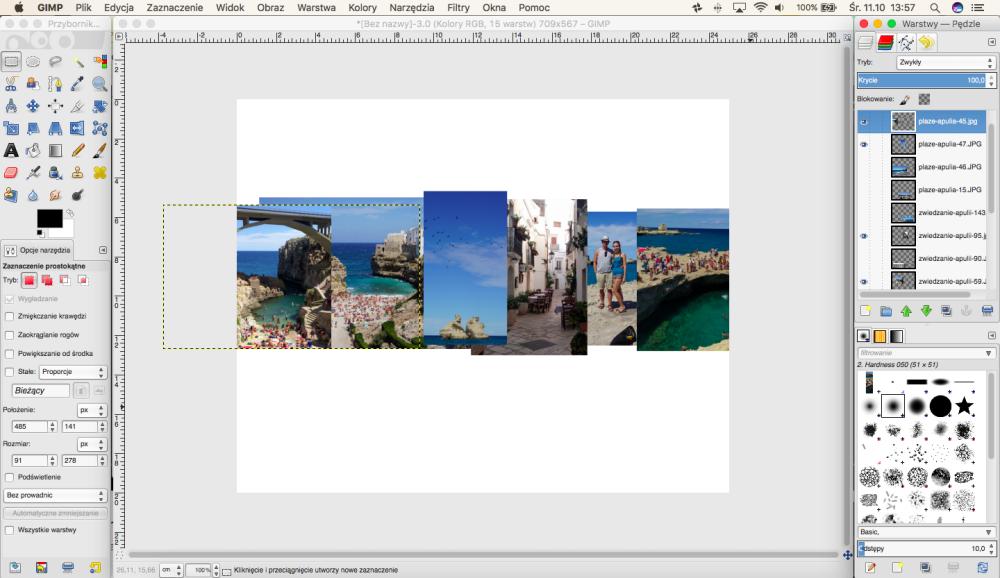 Zdjęcie w kształcie napisu w programie GIMP