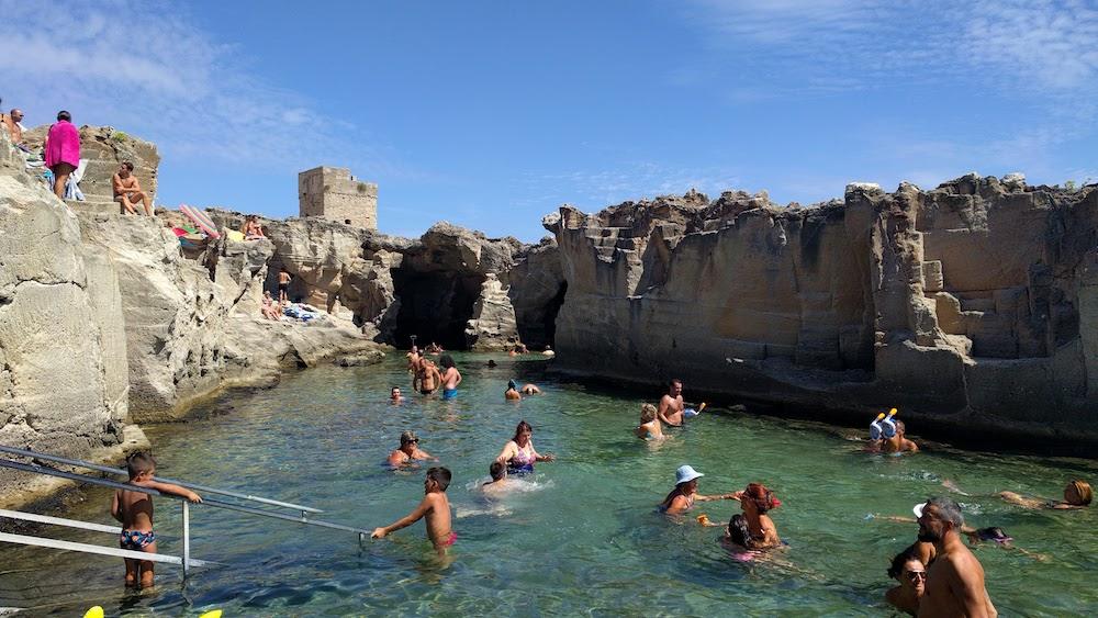 Plaże Apulii - Puglia zwiedzanie - Spiaggia e Piscina