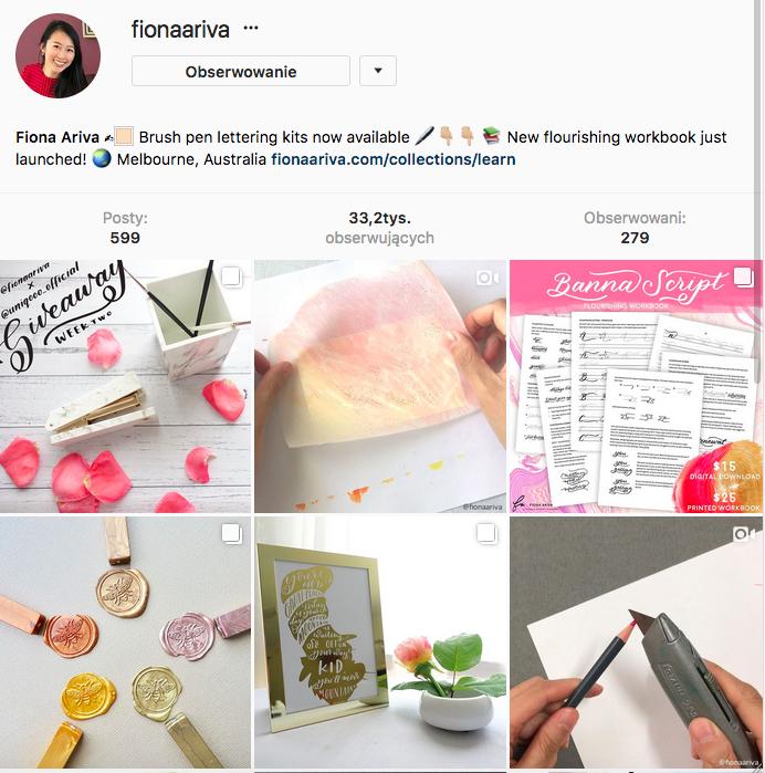 Hand lettering - jak ozdabiać litery - instagram pomysły i inspiracje
