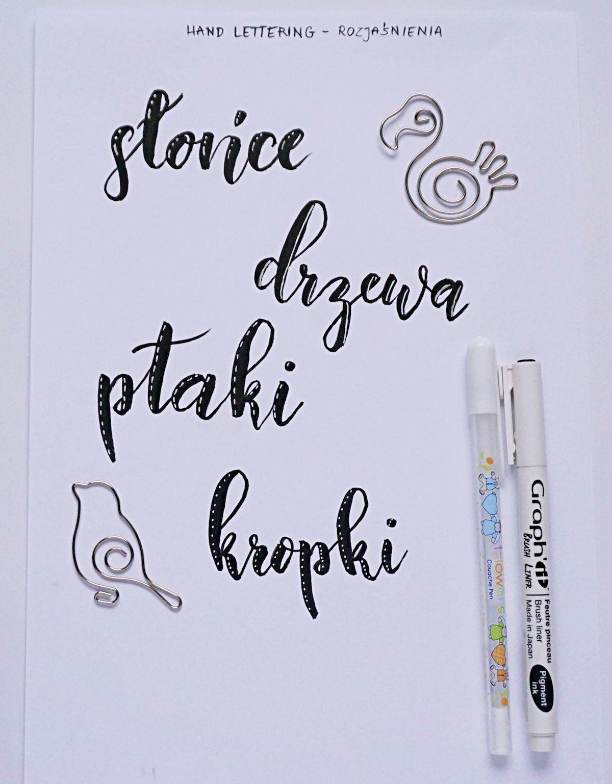 Inspiracje Hand lettering highlights - jak ozdabiać litery - pomysły