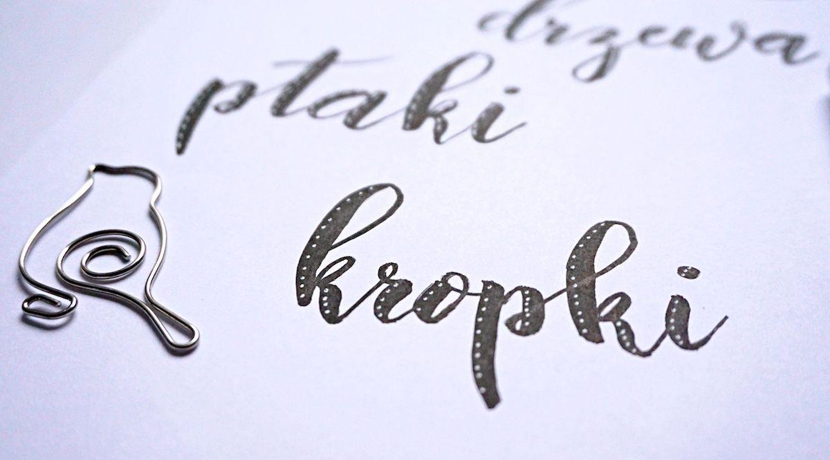 Hand lettering highlights refleksy - jak ozdabiać litery - pomysły i inspiracje
