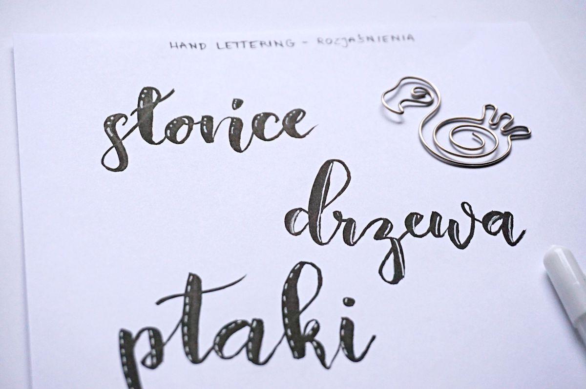 Hand lettering highlights rozjaśnienia - jak ozdabiać litery - pomysły i inspiracje