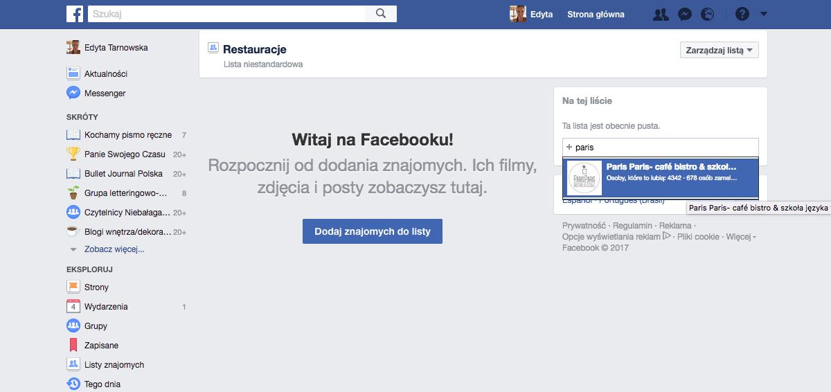 Jak zrobić porządek na Facebooku - listy znajomych i fanpage