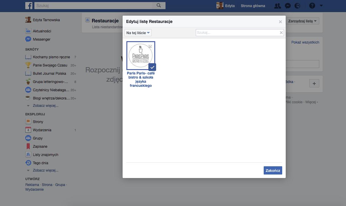 Jak zrobić porządek na Facebooku - listy znajomych