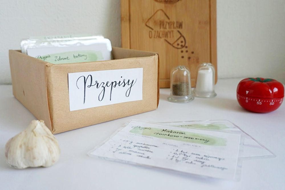 DIY Przepiśnik - wkłady karty na przepisy do druku