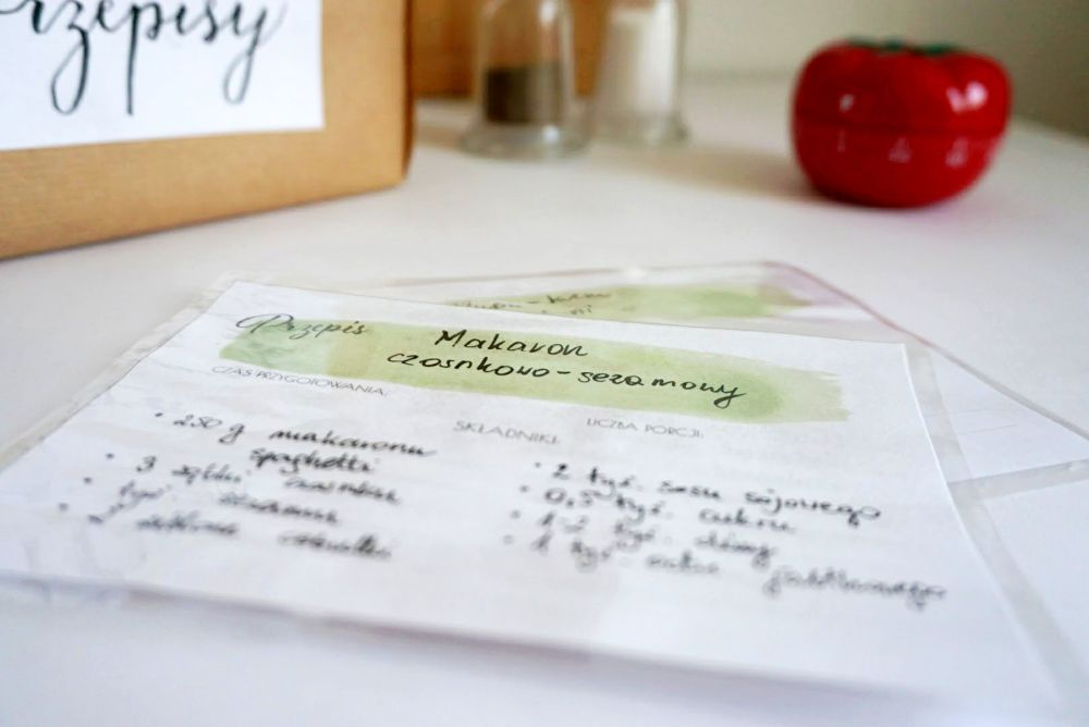 DIY Przepiśnik - karty przpisów do druku
