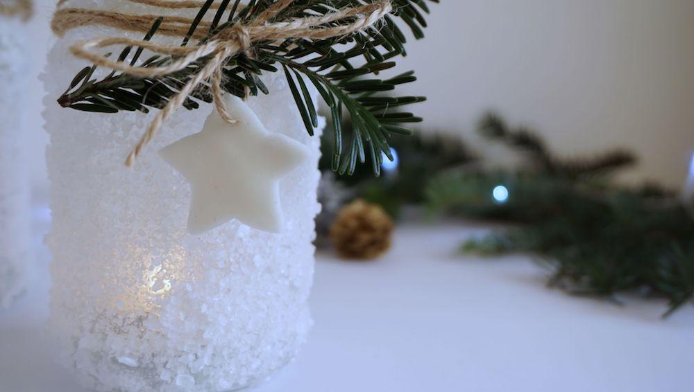 DIY Zimowe świeczniki, lodowe lampiony