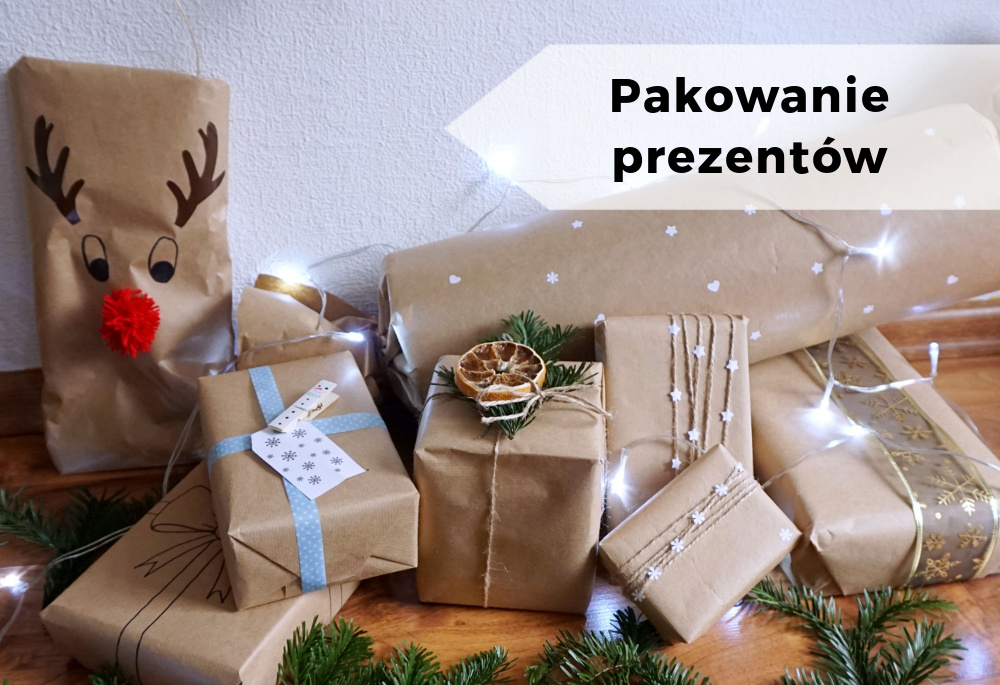 Piękne pakowanie prezentów w szary papier – część 2