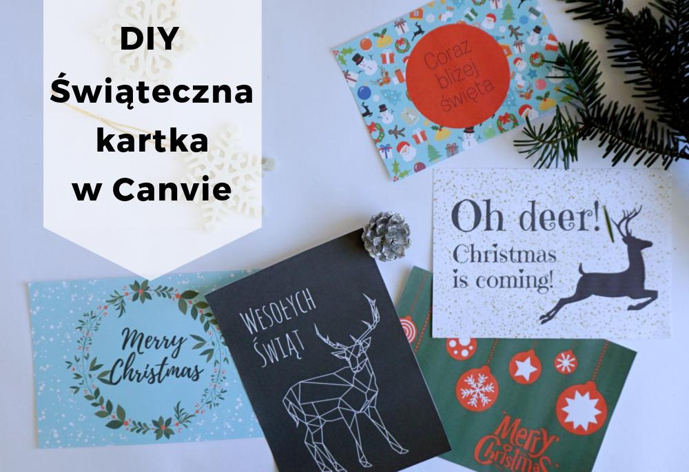 Prosta kartka świąteczna w Canvie