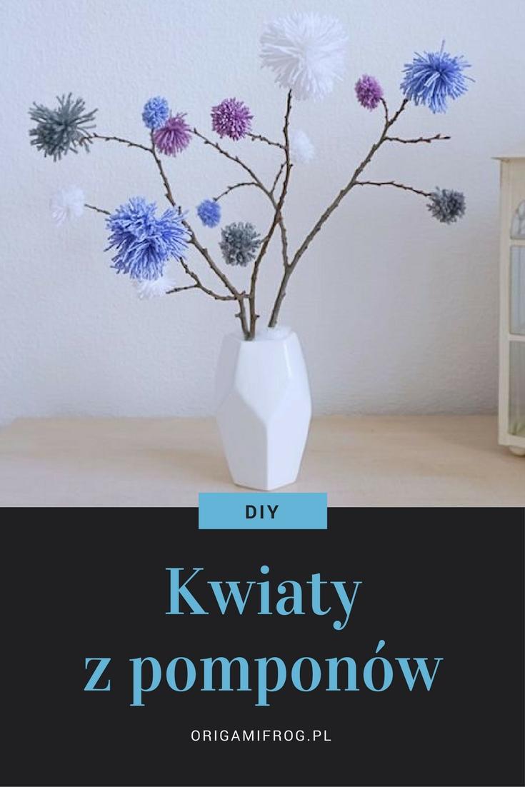 Zrób to sam Kwiaty z pomponów // DIY pompon flowers