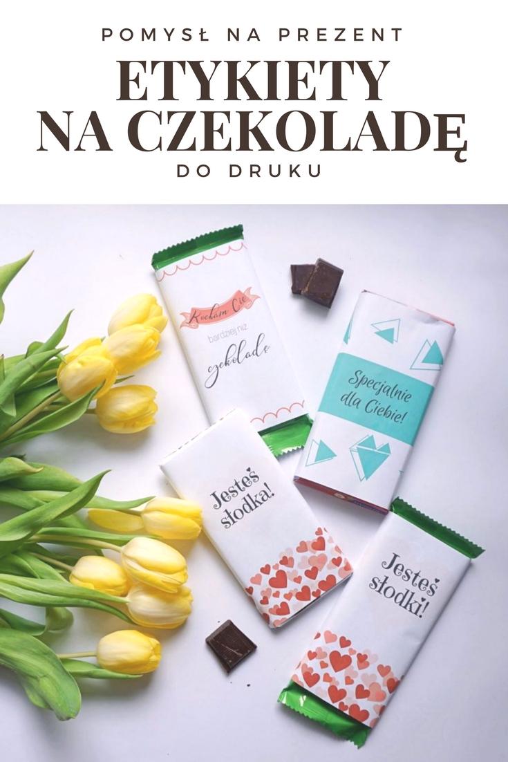 DIY Miłosne etykiety na czekoladę do druku
