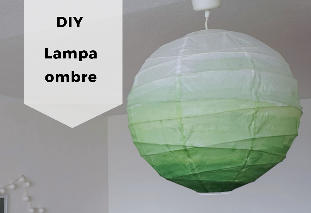 DIY Lampa ombre – metamorfoza papierowego klosza