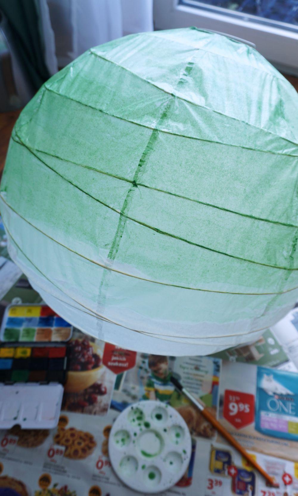 DIY Lampa ombre Ikea hack papierowy klosz