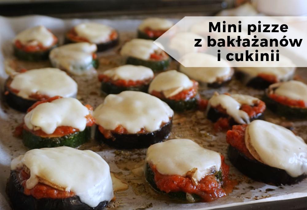Mini pizze z bakłażana i cukinii