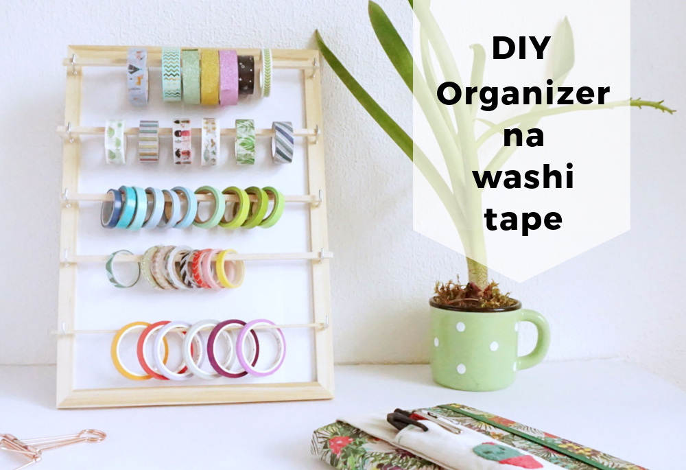 DIY Organizer na washi tape