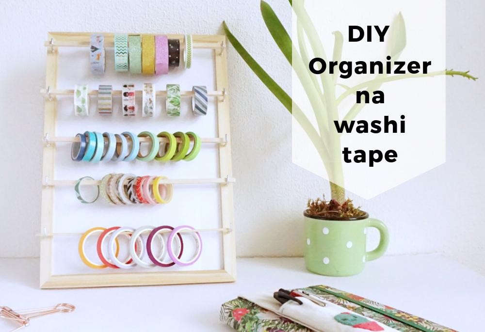 DIY Organizer na washi tape