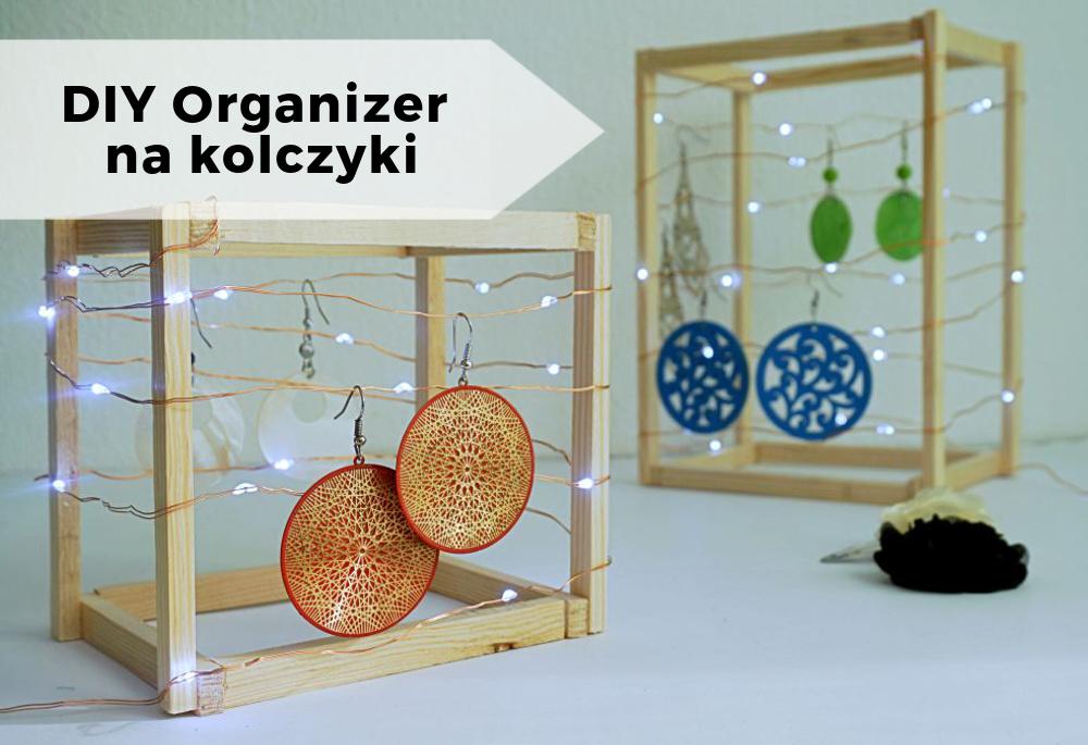 DIY Geometryczny organizer na kolczyki